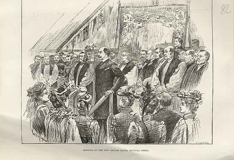 Print Opening New Oxford House Bethnal Green 1892 08Laaa1 Old Original
