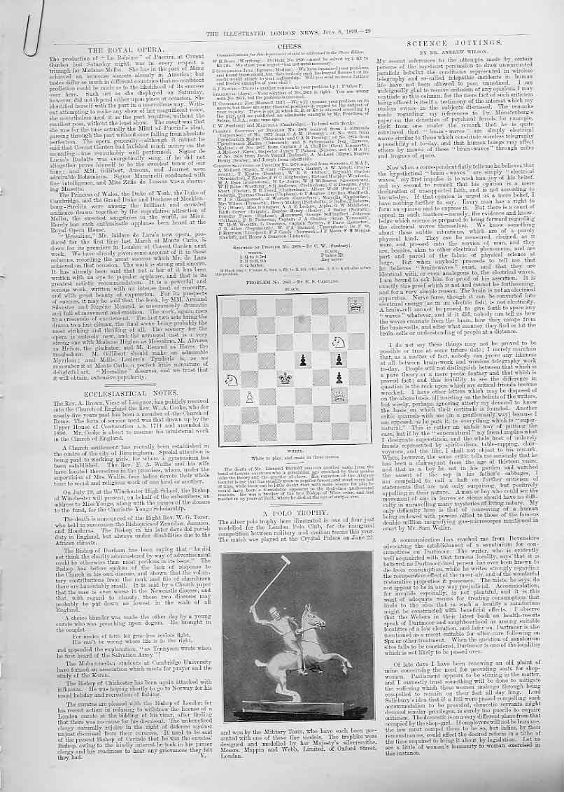 Print 2 Chess Problems 1899 29Aaaa1 Old Original