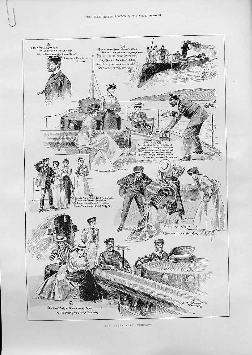 Print The Refactory Torpedo 1899 84Aaaa1 Old Original