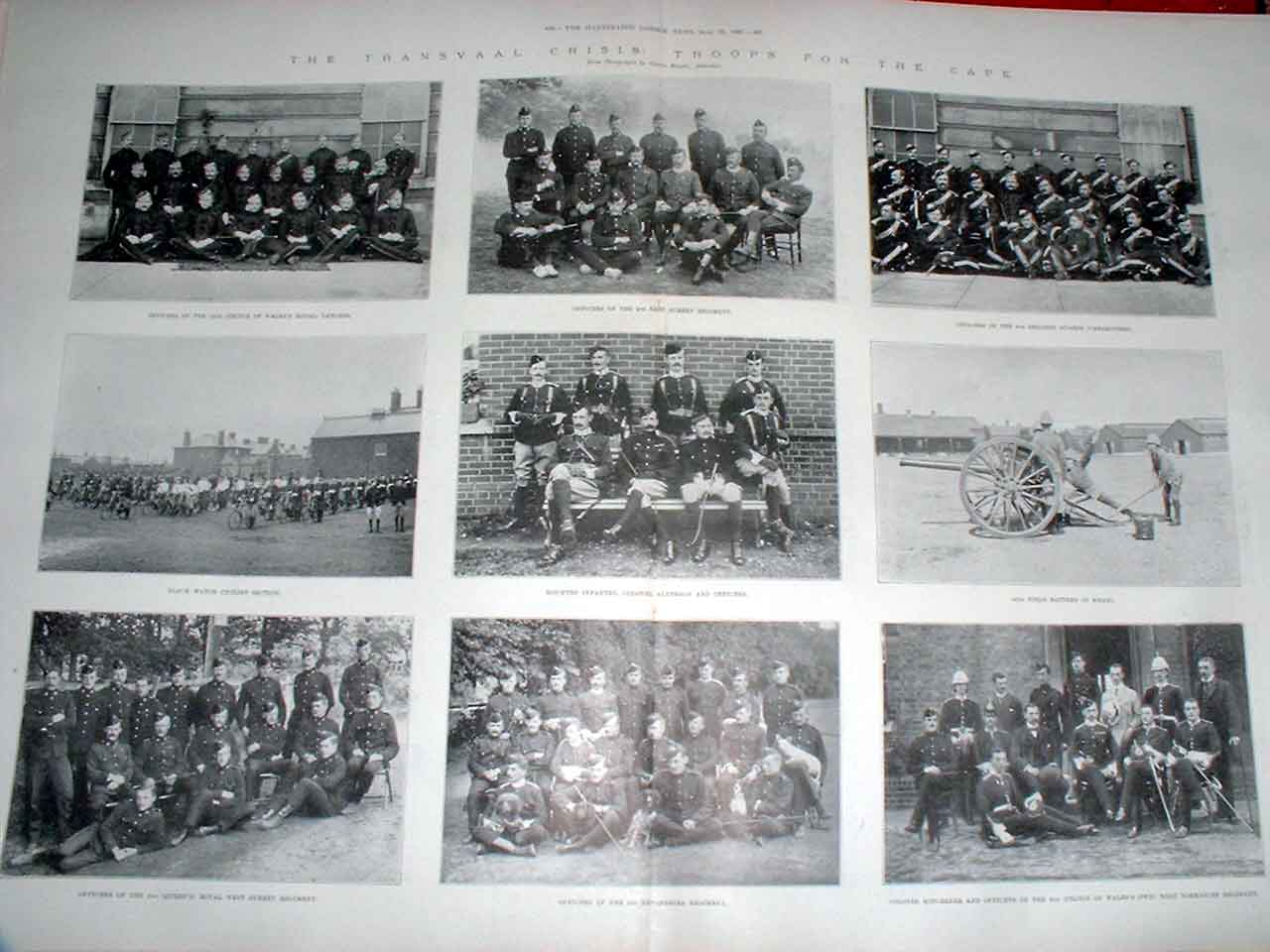 Print Black Watch Cycle & Other Troops For Cape 1899 29Taaa1 Old Original
