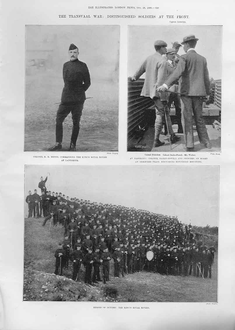[Print Distinguished Soldiers At Front S Africa Baden Powell 19Aaa1 Old Original]