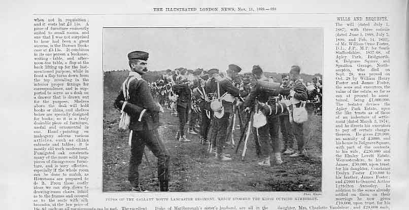Print North Lancaster Soldiers Who Stormed Kimberley 1899 98Aaa1 Old Original