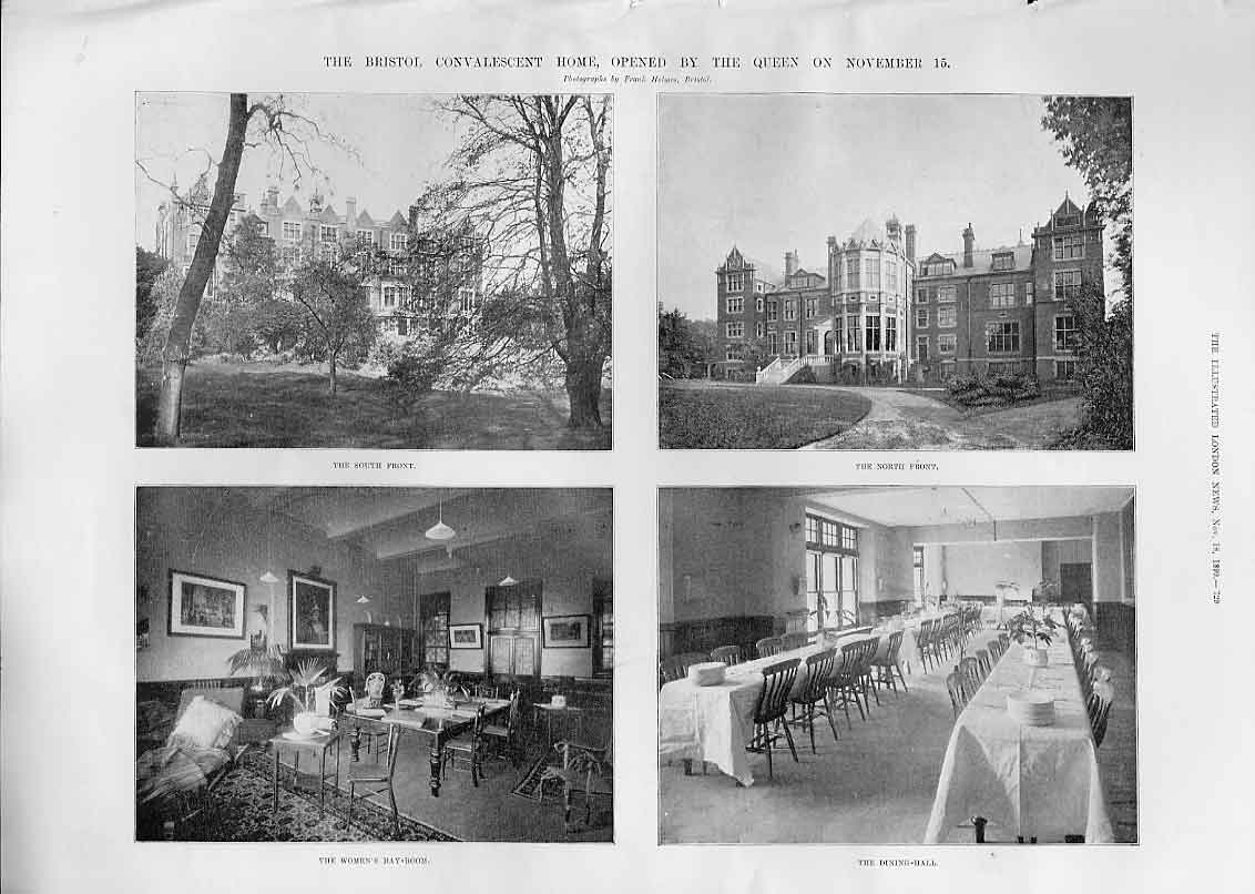 Print The Bristol Convalescent Home Opened By Victoria 1899 29Aaa1 Old Original