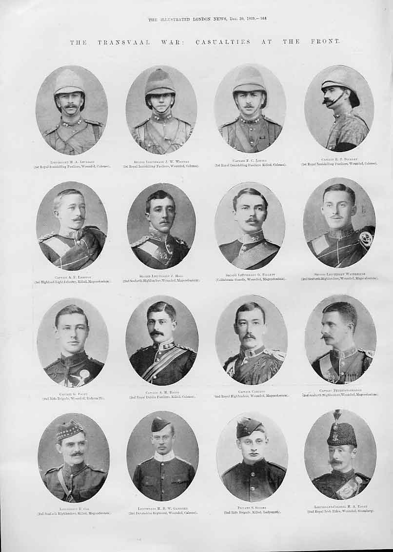 Print 32 Portraits Transvaal War Casualties 189 44Aaaa1 Old Original