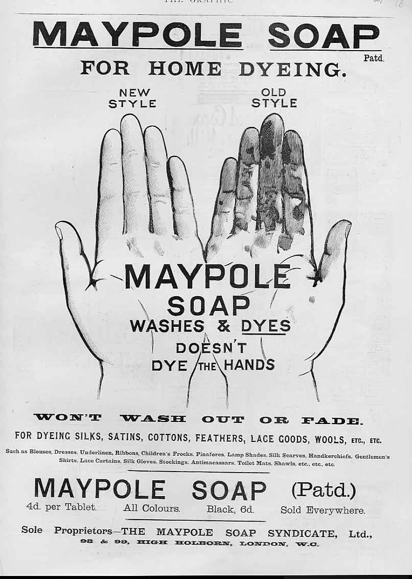 [Print Maypole Soap All Colours Advertisment1896 18Ads1 Old Original]