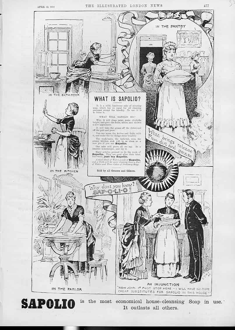 [Print What Is Sapolio Advertisment Economical Soap 55Ads1 Old Original]
