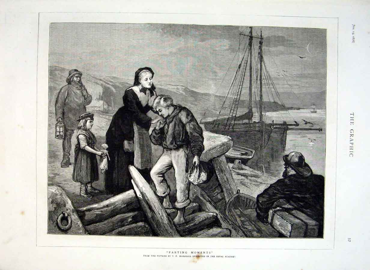 Print Off To Sea Parting Moments By Marshall Fine Art 1876 57Bbb0 Old Original