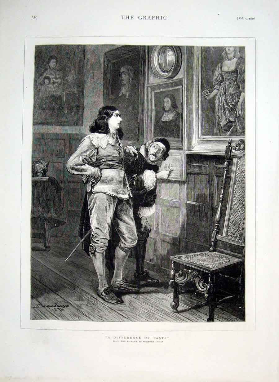 Print Difference Taste By Lucas Fine Art 1876 36Bbb0 Old Original