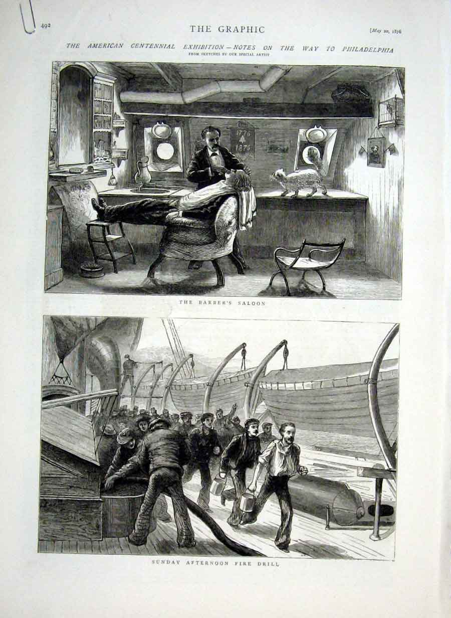 Print Notes On Way To Philadelphia By Ship 1876 92Abbb0 Old Original