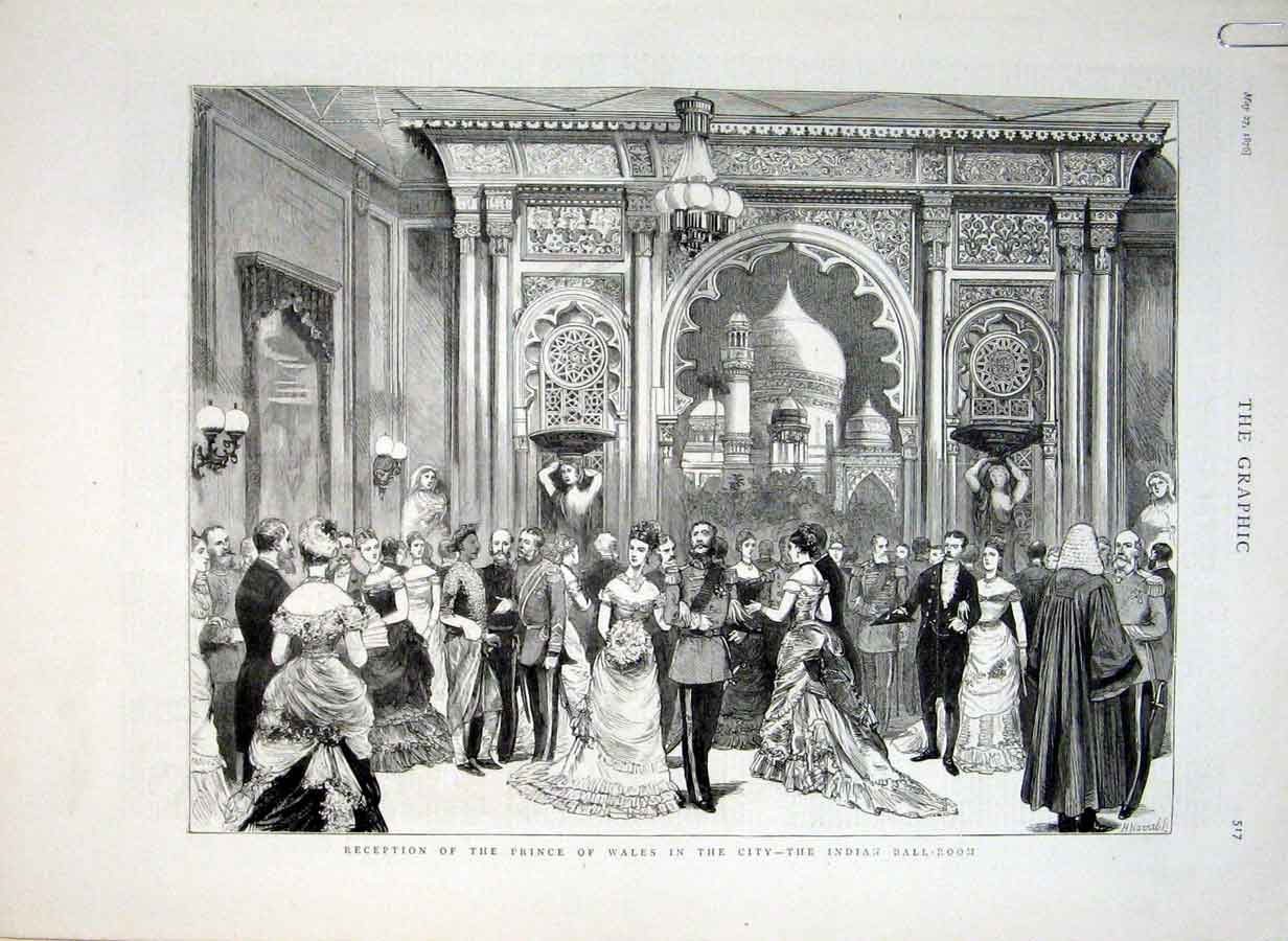 Print Prince Wales In The City London 1876 17Abbb0 Old Original
