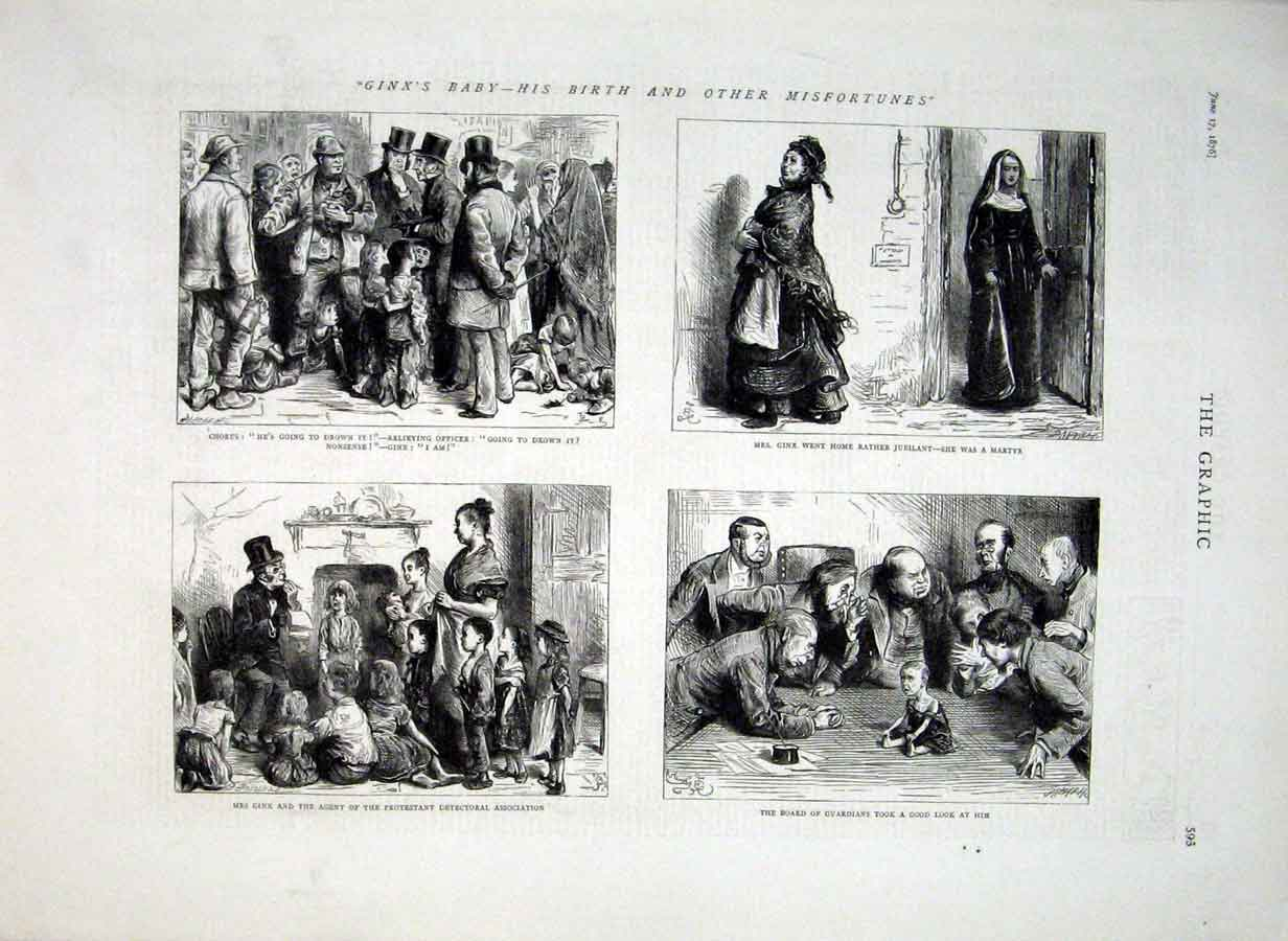 [Print Ginn'S Baby His Birth & Misfortunes 1876 93Bbb0 Old Original]