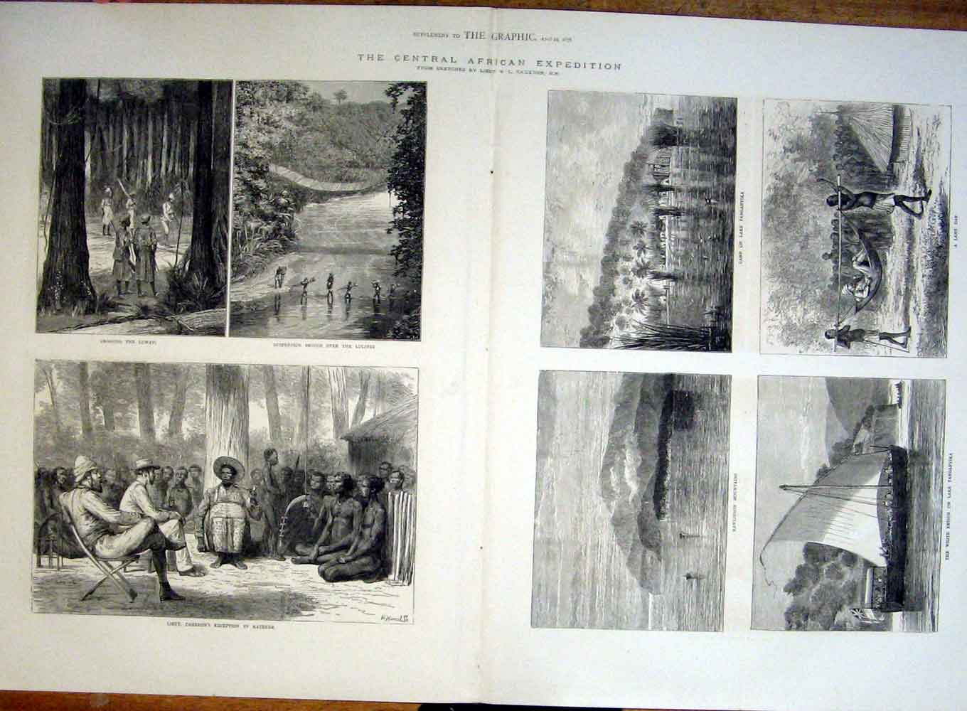 [Print The Central African Expedition 1876 Cameron 06Tbbb0 Old Original]
