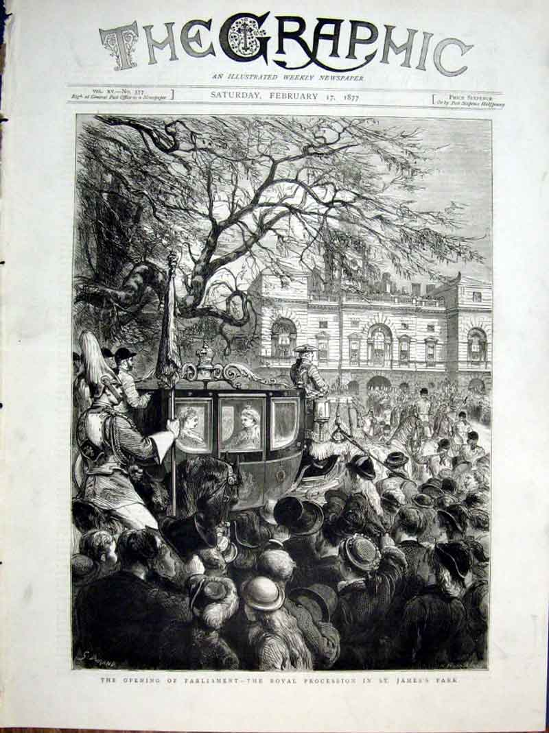 Print Queen Victtoria Procession St James 1877 146 46Bbb0 Old Original