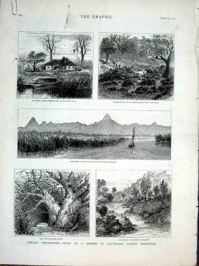 Print Youngs Expedition To Africa 1877 Moramballa 84Abbb0 Old Original