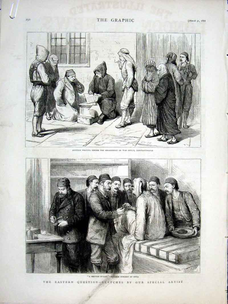 Print English Surgery Sofia Group Turkish Firemen 1877 92Abbb0 Old Original