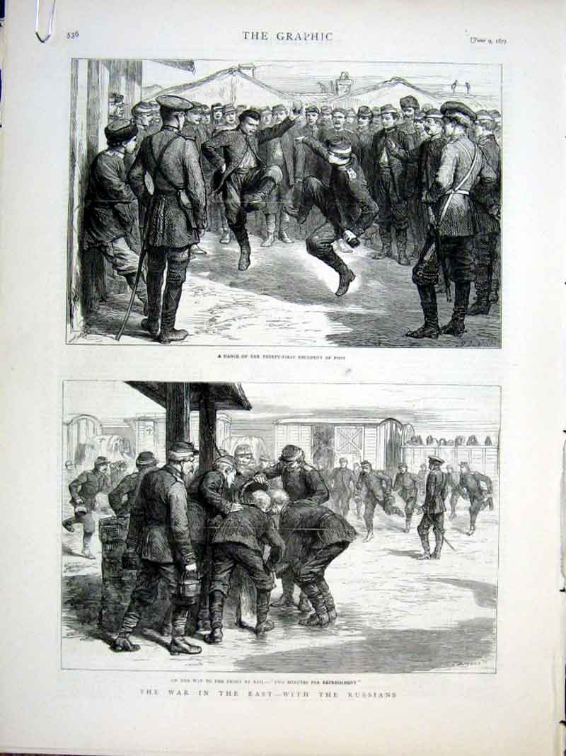 Print With The Russians At War In The East 1877 36Abbb0 Old Original