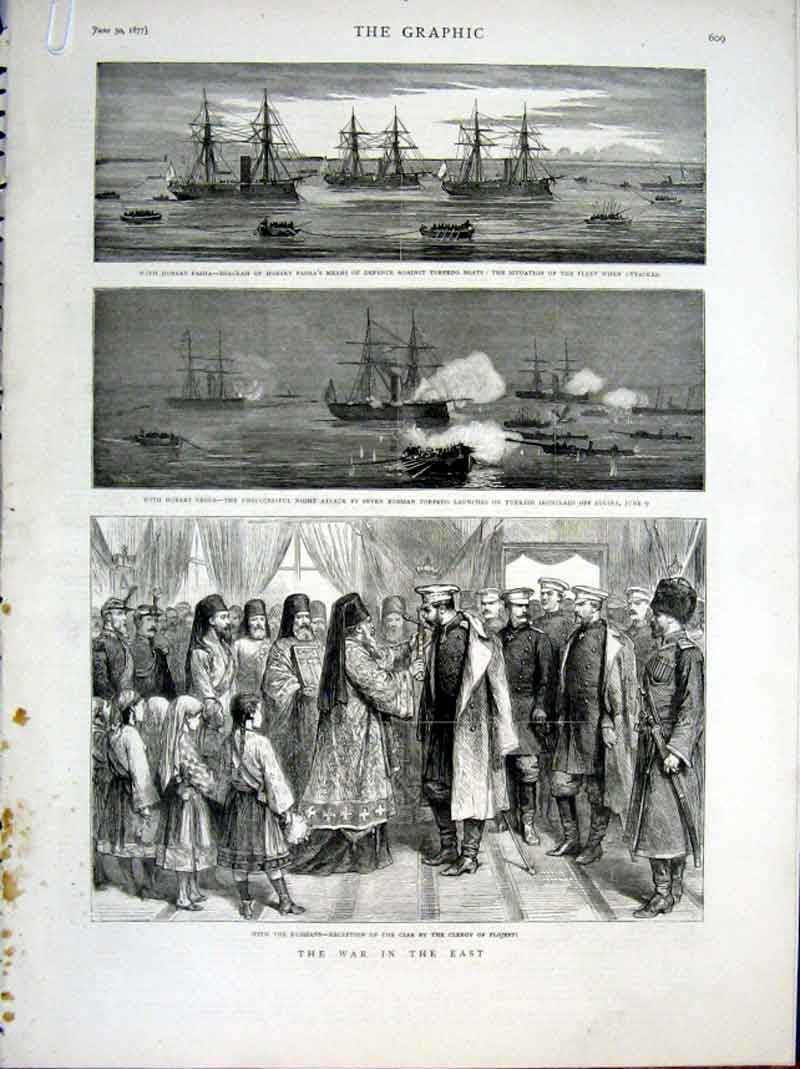 Print With Russians 1877 With Turks War In East 09Abbb0 Old Original