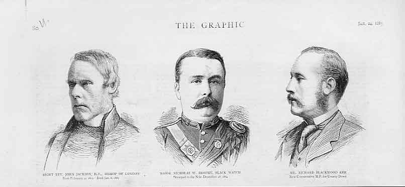 Print Portraits Rev Jackson Maj Brophy Blackwood Ker 1885 80Ubbb0 Old Original