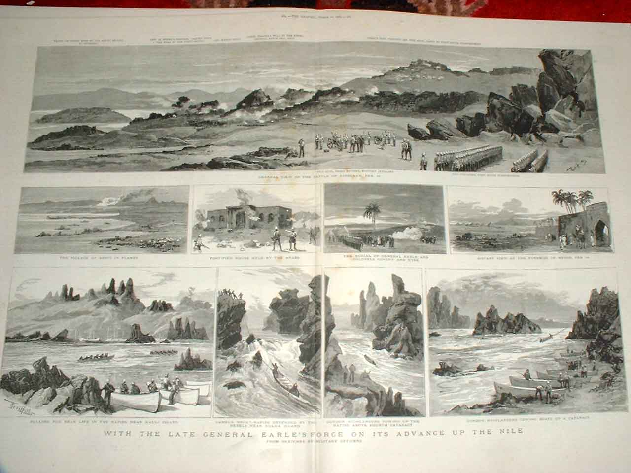 Print With Gen Earls Force Up The Nile Soudan War 1885 83Tbbb0 Old Original