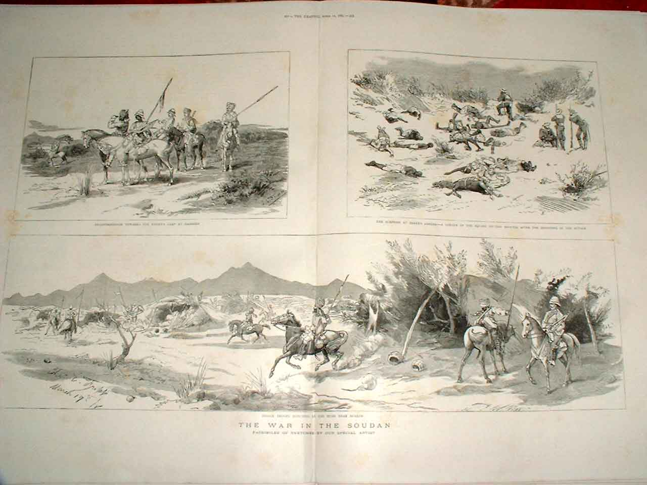 Print Surprise Bakers Zereba 1885 Soudan War 51Tbbb0 Old Original