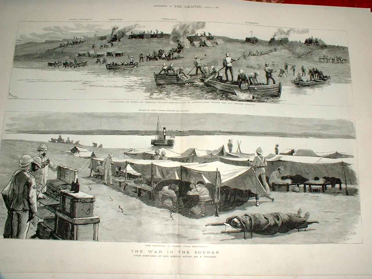 Print Gen Buller Evacuates Gubat Soudan War 188 52Tbbb0 Old Original