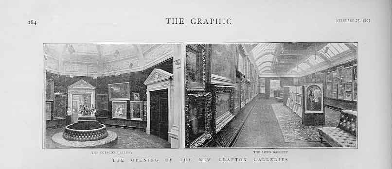 Print Opening New Grafton Galleries 1893 London 84Bbb0 Old Original