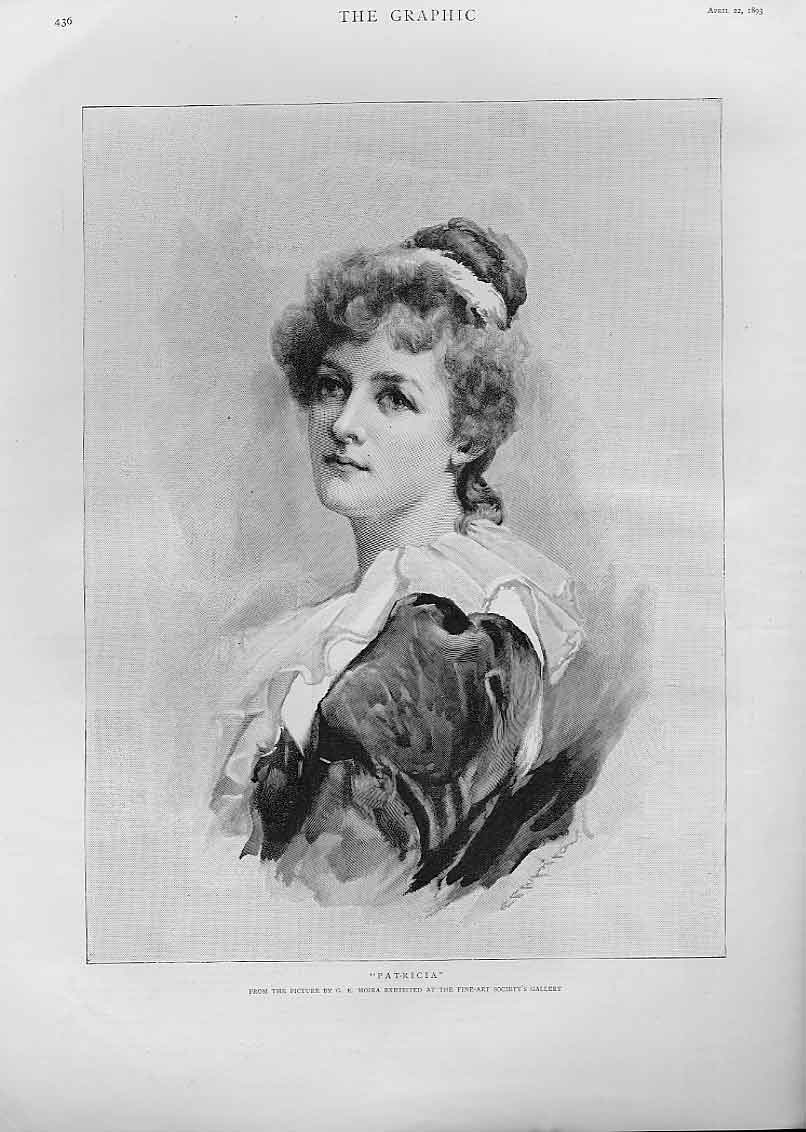 Print Patricia By Moira Fine Art 1893 Beauty 36Bbb0 Old Original