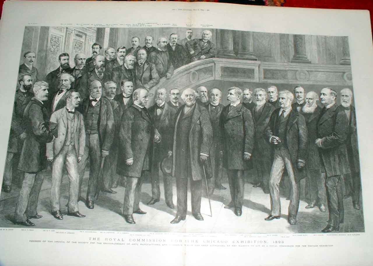 Print Royal Commission For The Chicag0 Exhibition 1893 99Tbbb0 Old Original
