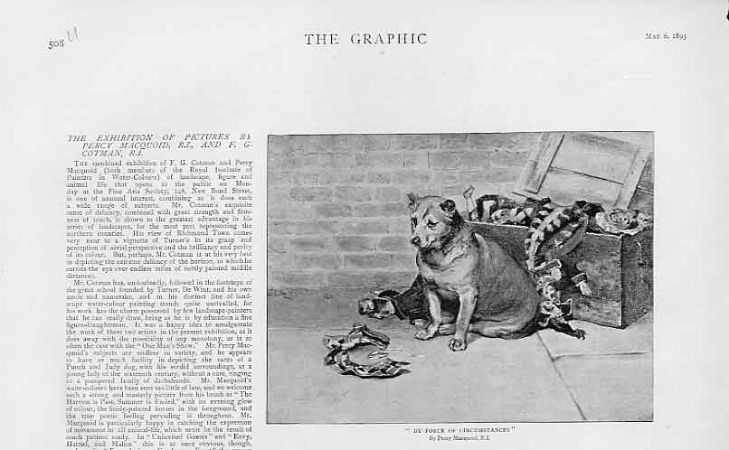 Print Force Circumstances By Percy Macquoid 1893 Dog 08Ubbb0 Old Original