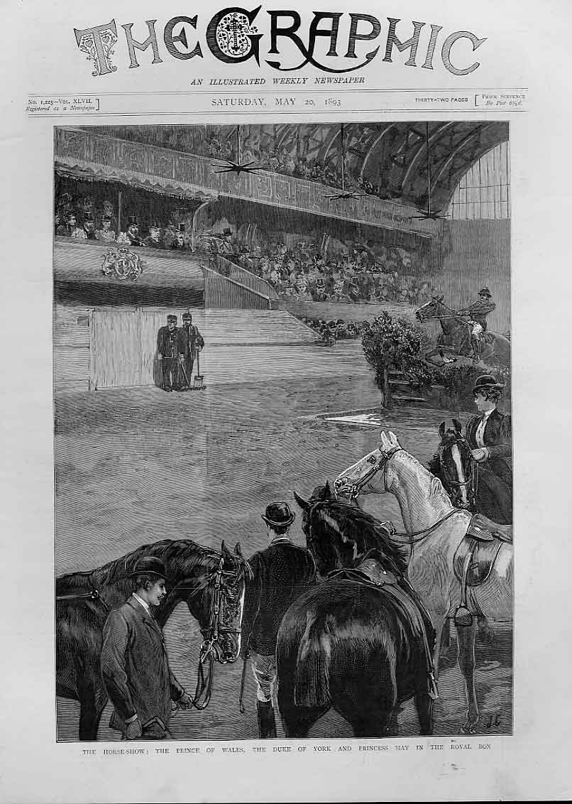 Print Royal Box At The Horse Show 1893 58Bbb0 Old Original
