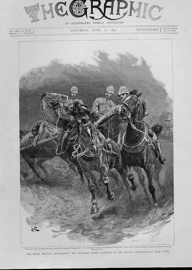 [Print Horse Artillery Driving Competition 46Bbb0 Old Original]