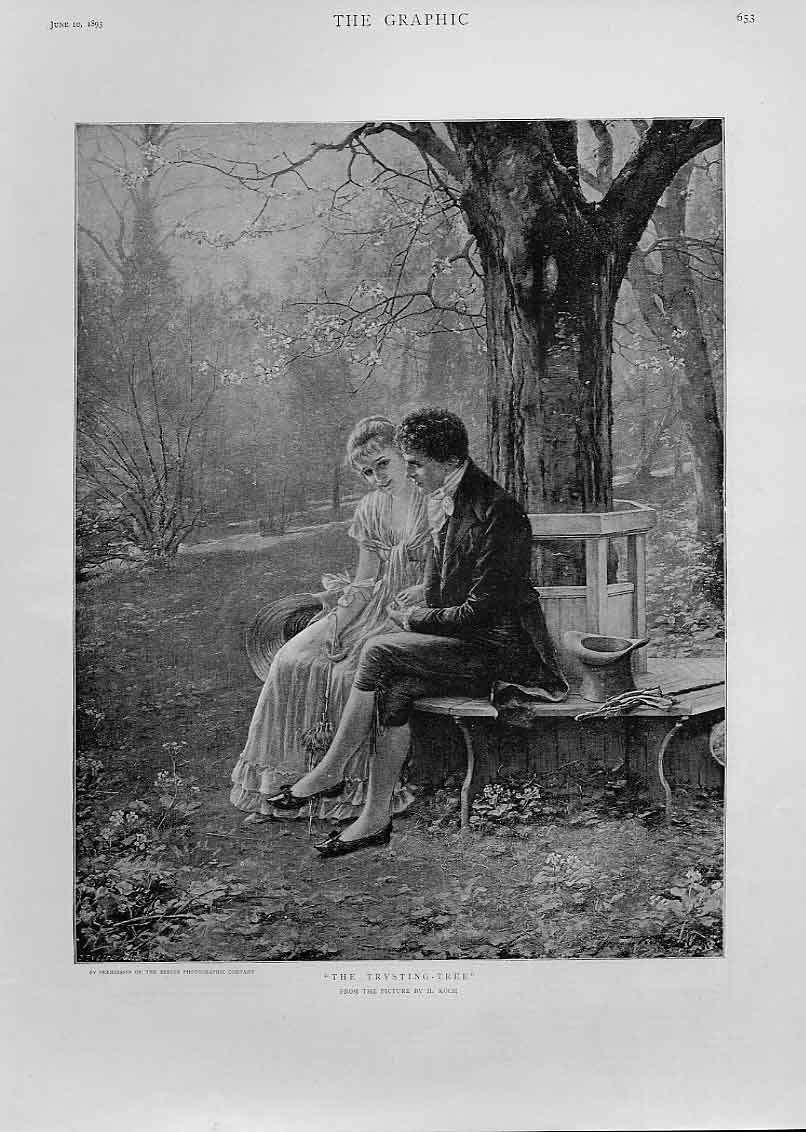 [Print Lovers At Trysting Tree By Koch Fine Art 53Bbb0 Old Original]