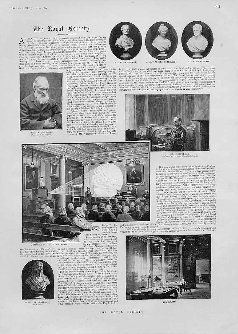 [Print A Lecture At The Royal Society 1893 63Bbb0 Old Original]