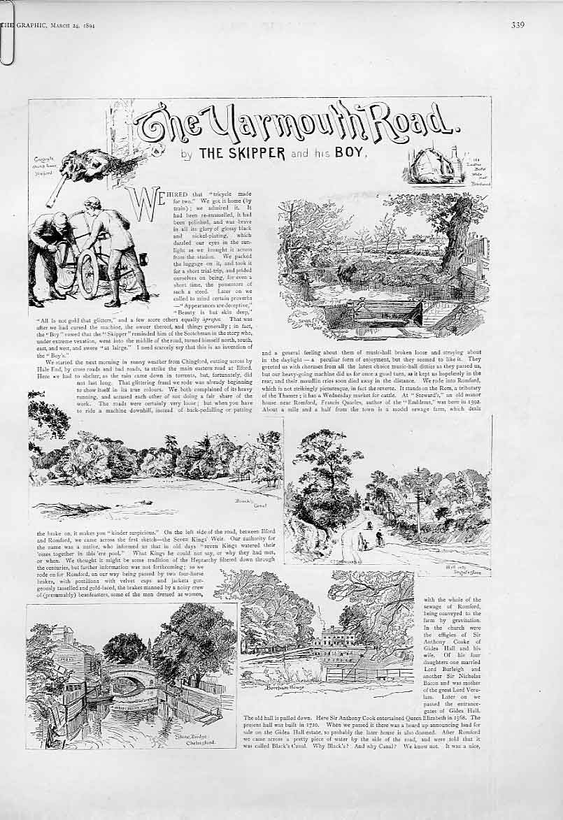 Print The Yarmouth Road 1894 39Abbb0 Old Original