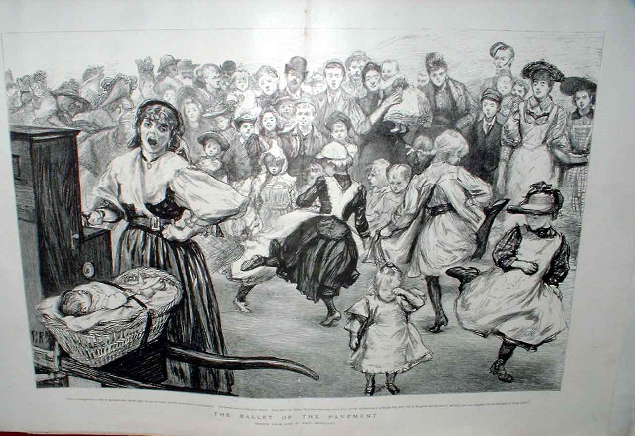 Print Ballet The Pavement Fine Art By Renouard 1894 97Tbbb0 Old Original