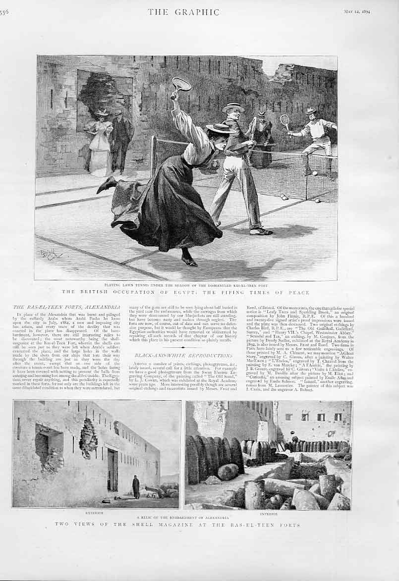 [Print Tennis At Ras El Teen Forts Egypt 1894 56Bbb0 Old Original]