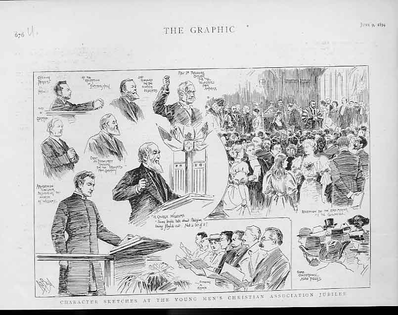 Print Young Mens Christian Association Jubilee 1894 76Ubbb0 Old Original