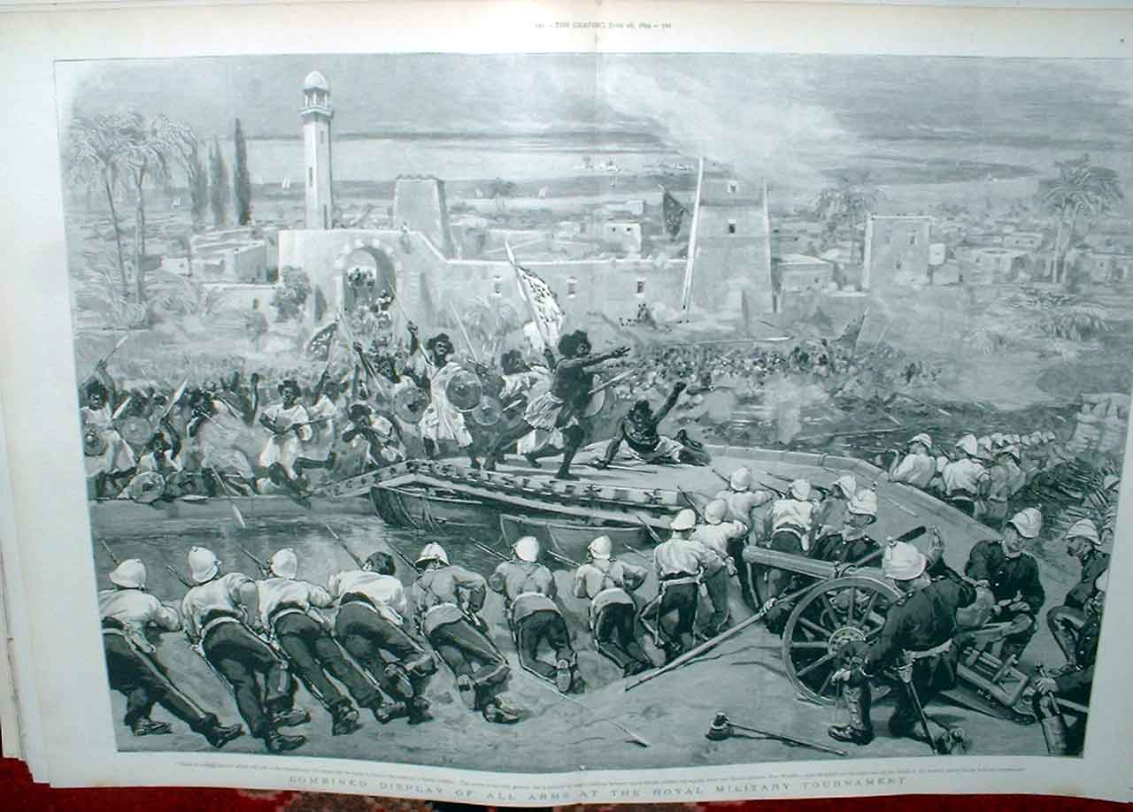 Print Military Display All Arms 1894 19Tbbb0 Old Original