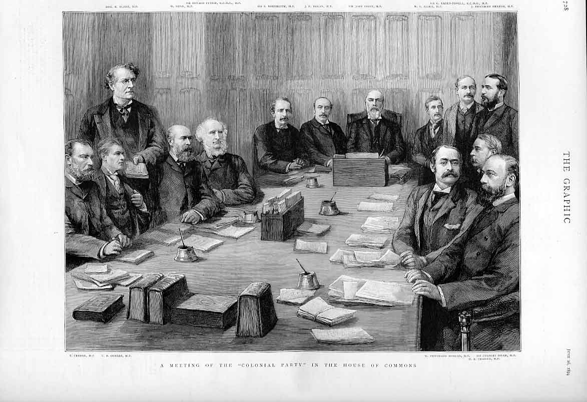 Print Meeting Colonial Party In House Commons 1894 28Bbb0 Old Original