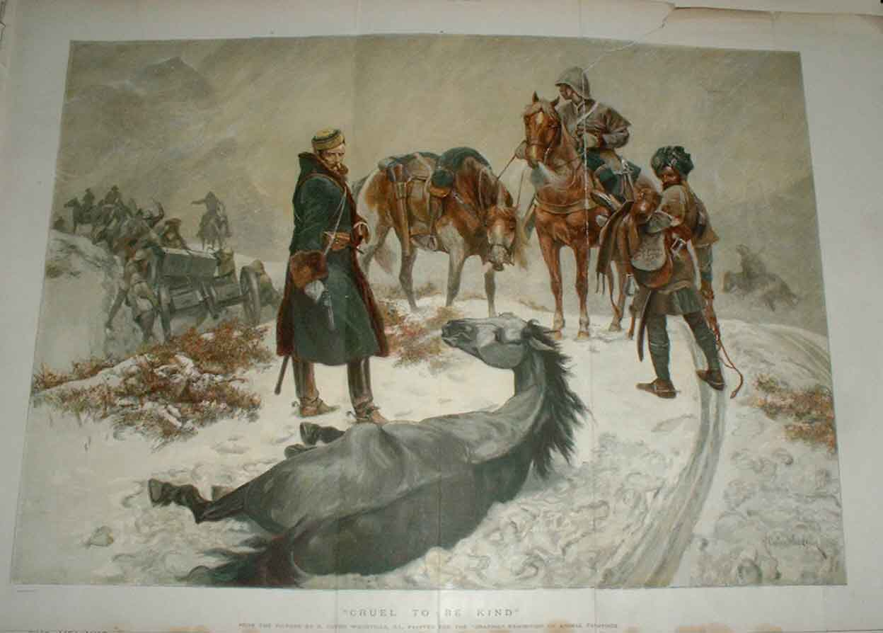 Print Shooting Horse Cruel To Be Kind 1894 Fine Art 10Tbbb0 Old Original