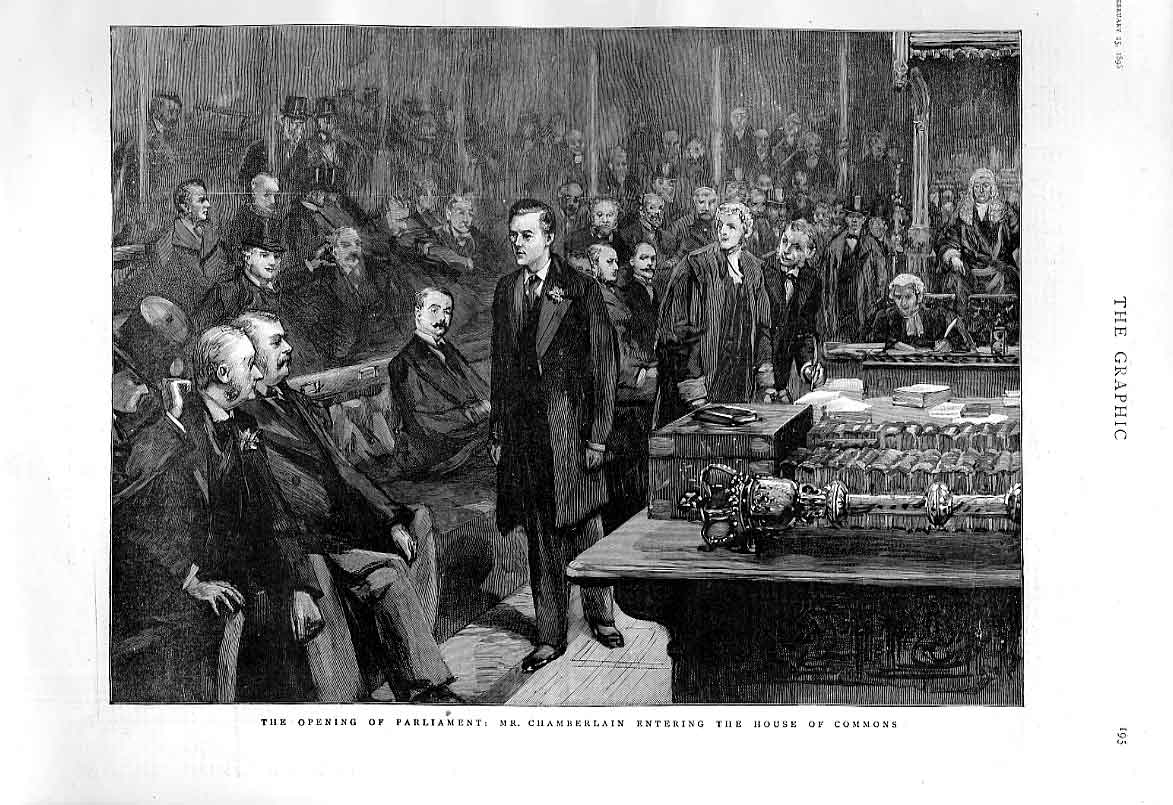 Print Chamberlain At Opening Parliament 1896 95Bbb0 Old Original