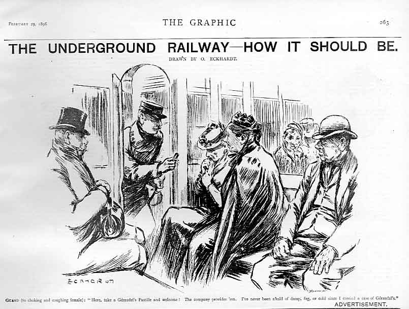 Print The Underground Railway How It Should Be 1896 63Bbb0 Old Original