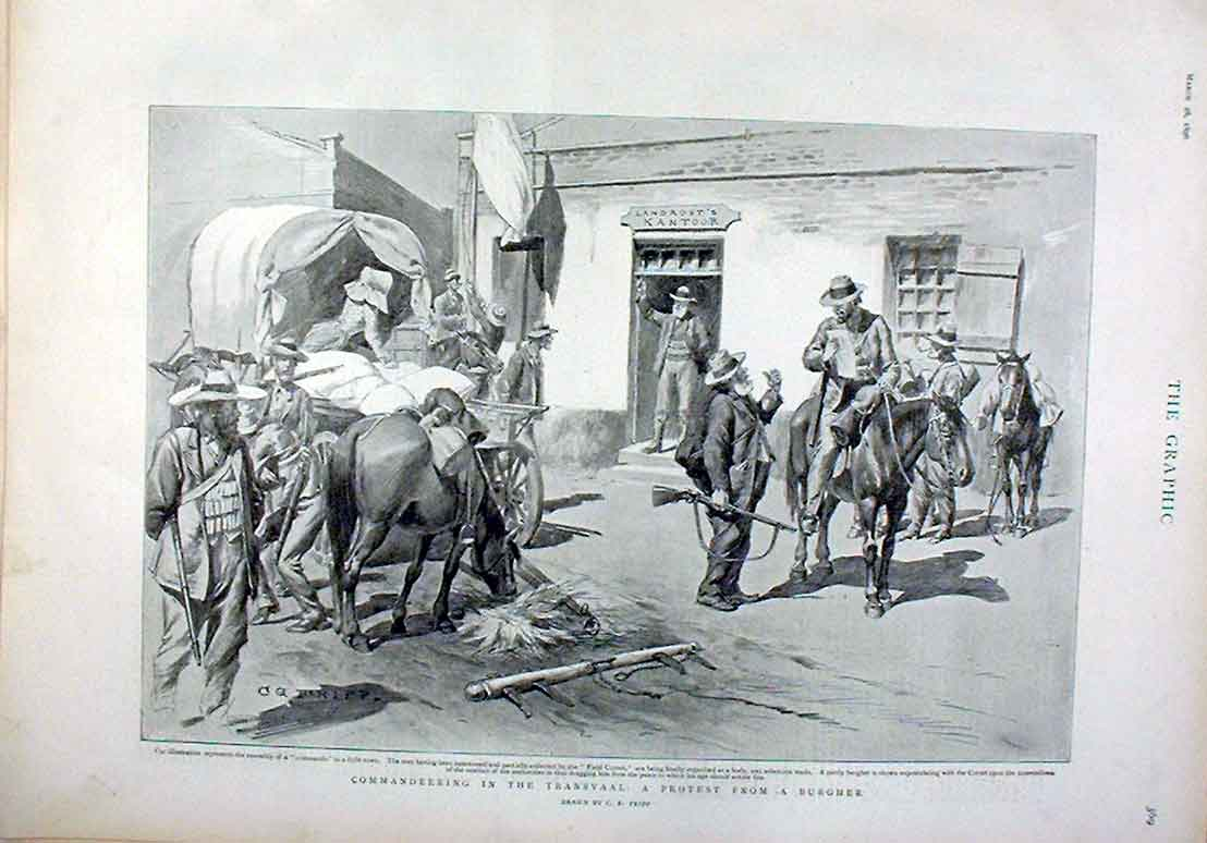 Print Protest From Burgher Commandeering Supplies Transvaal 69Bbb0 Old Original