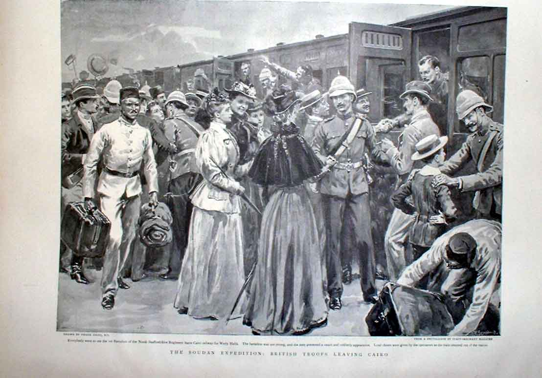 Print British Troops In Cairo 1905 Egypt 24Abbb0 Old Original