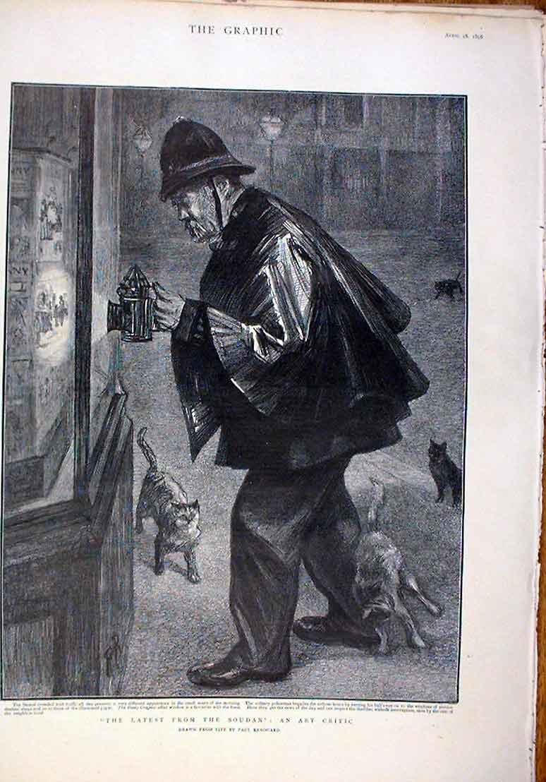 Print Policemans Night Patrol 1896 Drawn From Life By Renouar 60Bbb0 Old Original