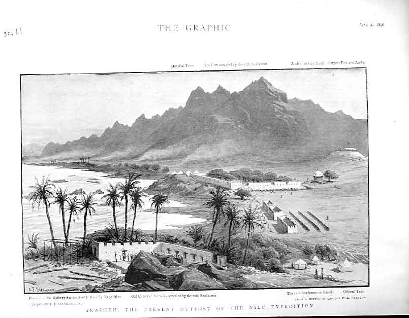 Print Akasheh Outpost Nile Expedition 1896 E 24Ubbb0 Old Original