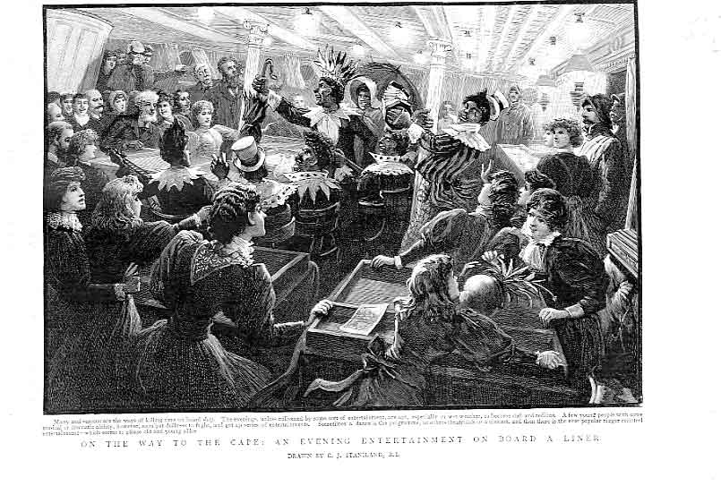 [Print Evening Party On Cape Bound Liner 1896 37Lbbb0 Old Original]