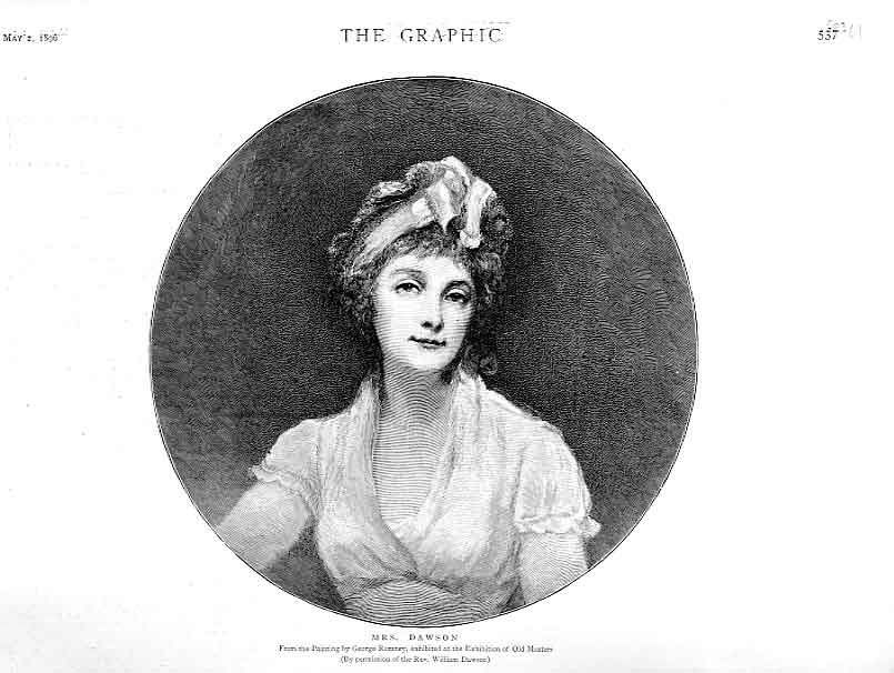 [Print Portrait Mrs Dawson By George Romney 1896 37Ubbb0 Old Original]