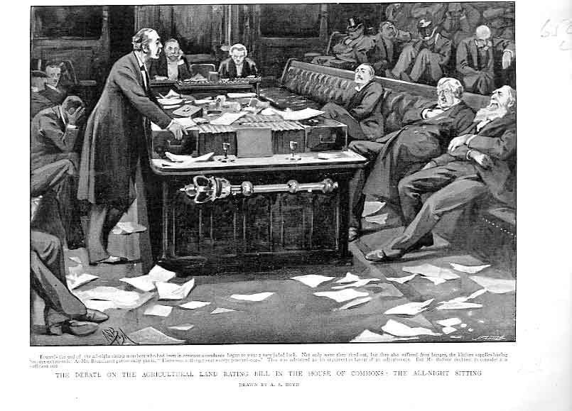 Print All Night Sitting House Commons 1896 52Lbbb0 Old Original