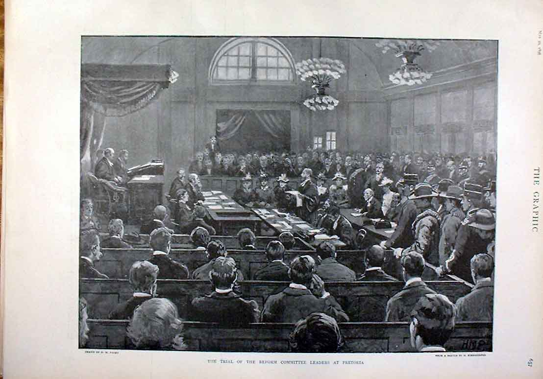 Print Trial Reform Committee Pretoria 1896 South Africa 57Bbb0 Old Original